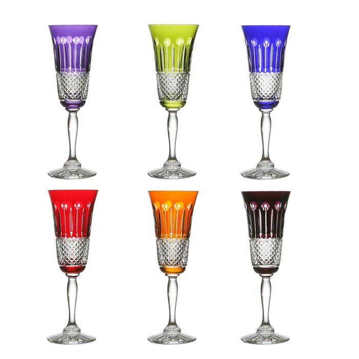flute a champagne de couleur