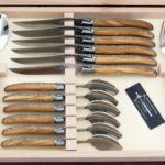 laguiole menagere 24 pieces en bois veritable