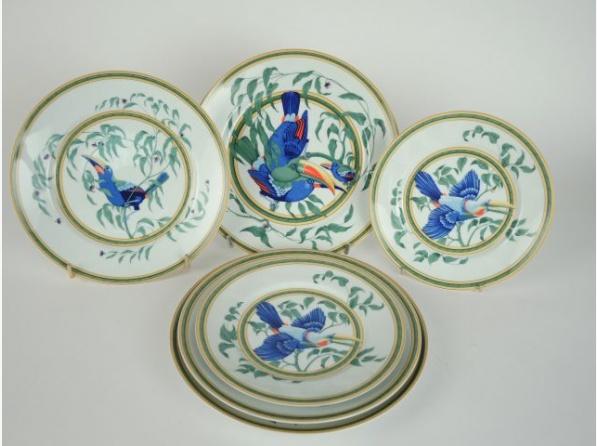 service de table hermes toucan
