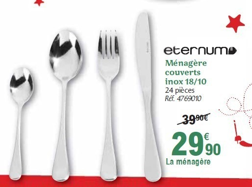 set couverts carrefour