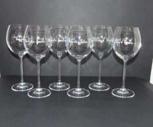 verre a vin grave personnalise